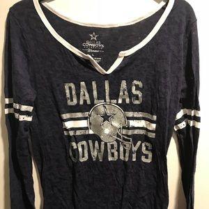 ccb7833b Ladies Dallas Cowboys Long Sleeve Shirt